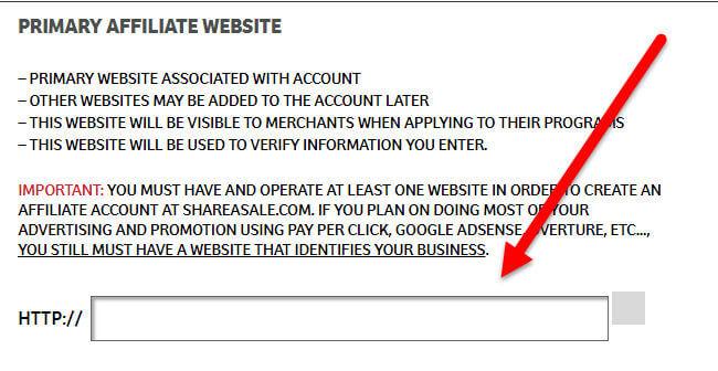 Enter Website Address