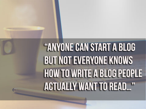 anyone can start a blog