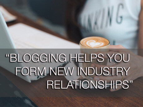 blogging helps you form new relationships