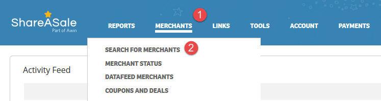 Search For Merchants