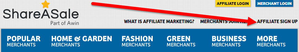 ShareaSale Affiliate Sign up