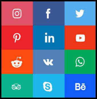 Social Media Marketing Banner Icon