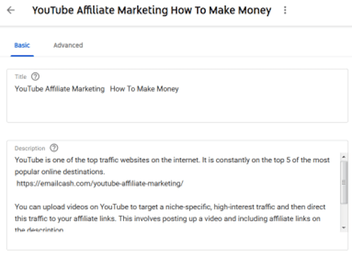 Optimizing The Video Title